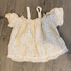 LOVE NOTES Cream colored crop top